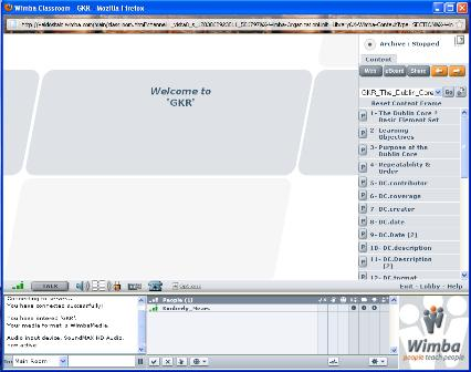 Wimba Classroom Screenshot