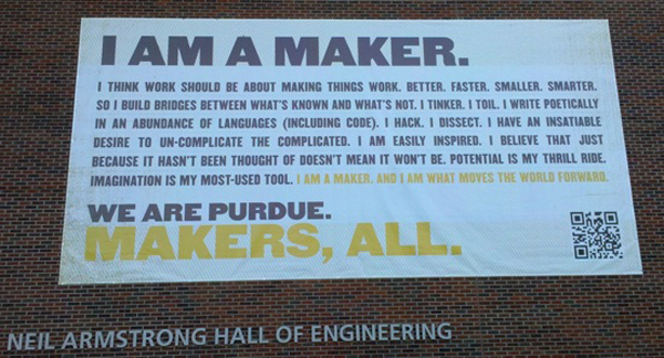 Purdue declares, We are Makers