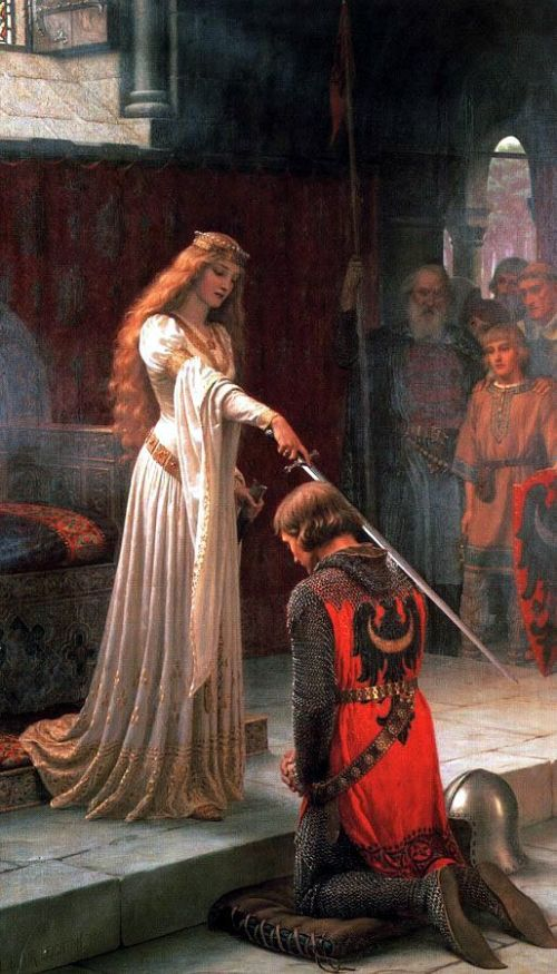 """The Accolade"" by Edmund Blair Leighton"