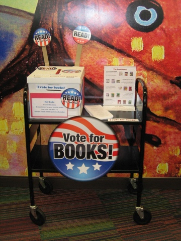 Voting station at Foster City Library.