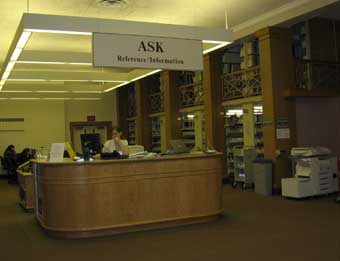 The reference desk at Bucknell's Learning Commons. via http://faculty.rwu.edu/smcmullen/Bucknell.html
