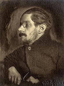 It's a digitally manipulated James Joyce... get it?