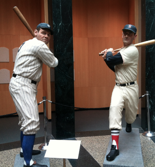 7 - Babe Ruth and Ted Williams Statues