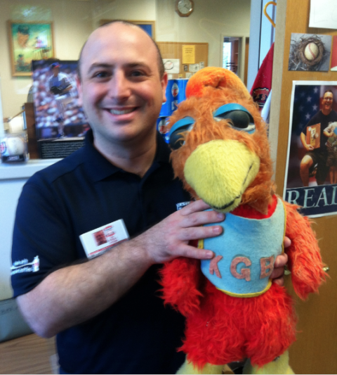 8 - Paul with San Diego Chicken Doll