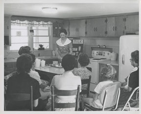 One of the vital ongoing programs of the USDA is providing classes on nutrition and other household skills. This program dates back to the start of the 20th century. (courtesy of the Nancy B. Leidenfost Papers, National Agricultural Library Special Collections)