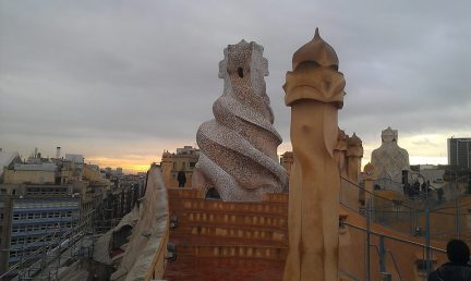 The rooftop of Casa Mila, a house designed by Gaudi - just one of the many sights I was able to see while in Barcelona.