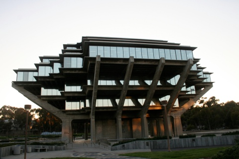 The Geisel Library at UC San Diego certainly *looks* cool... But future expansion is going to be tricky... (Image Source)