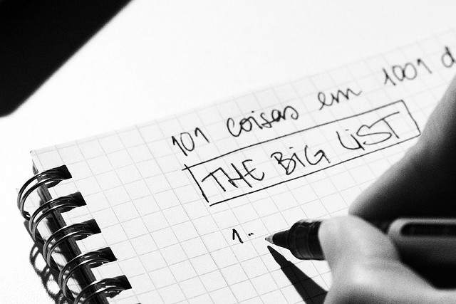 day 291_the big list by Ana C. on Flickr. Creative Commons BY-NC-ND 2.0 https://creativecommons.org/licenses/by-nc-nd/2.0/