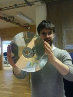 Matt's first laserdisc by Hannah Donovan on Flickr.