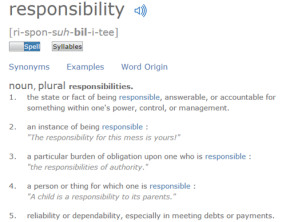 On Responsibility