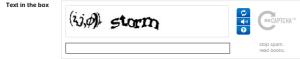 CAPTCHA form