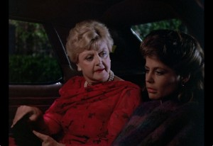 Jessica Fletcher in a car with another person