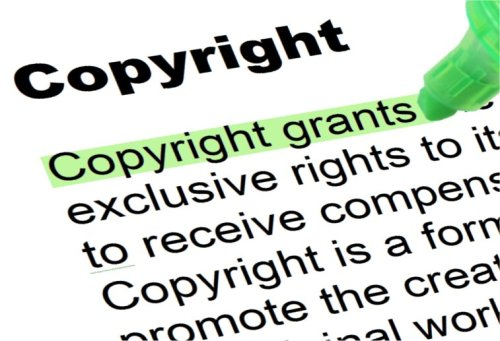 A partial definition of the term copyright.